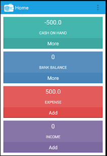 ACCOUNT INCOME EXPENSE MANAGER screenshot