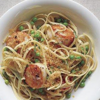 Linguine With Scallops and Brown Butter.