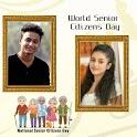 World Senior Citizens Day Wish Card Maker icon