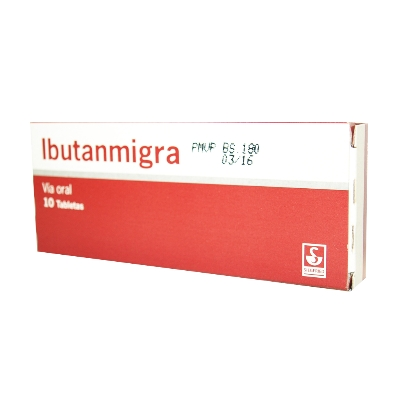 Ibuprofeno + Cafeina + Dihidroergotamina Ibutanmigra 400/40/1mg