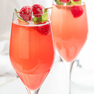 Raspberry Mimosas.