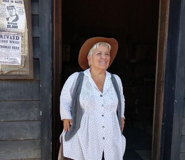 Mimie Mathy, en un descanso del rodaje.