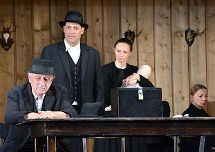Photo: Wien/ Theater in der Josefstadt: JÄGERSTÄTTER von Felix Mitterer. Inszenierung: Stephanie Mohr, Premiere 20.6.2013. Georg Drassl, Gregor Bloeb, Gerti Drassl, Elfriede Schüsseleder. Foto: Barbara Zeininger