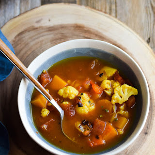 Curry Spiced Vegetable Soup.