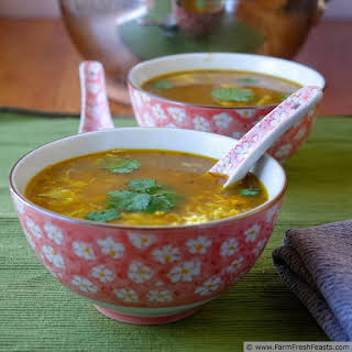 Thai Turkey Cold Busting Hot and Sour Egg Drop Soup.