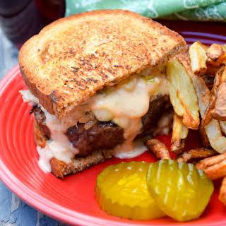 Grilled Reuben Burger.