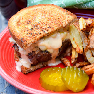 Grilled Reuben Burger.