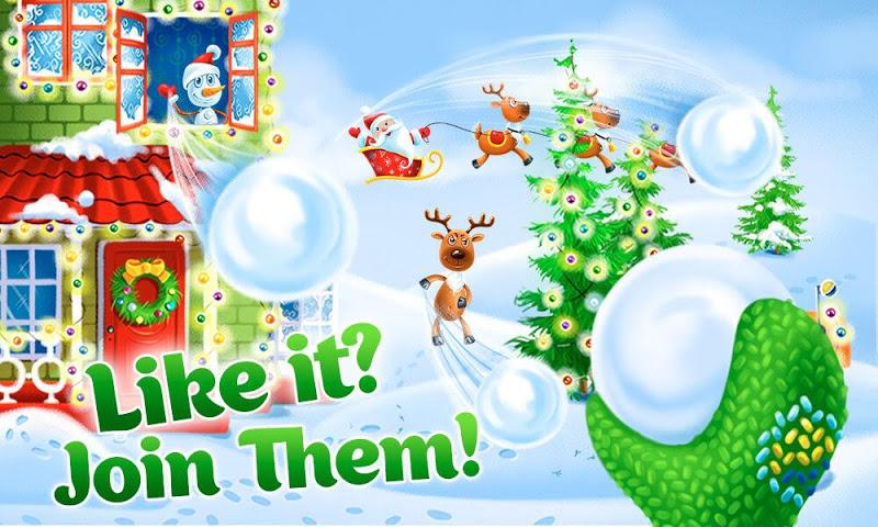android Christmas magic snowballs Screenshot 1