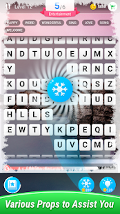 Find Words–Moving Crossword Puzzle, Happiness&Fun Screenshot