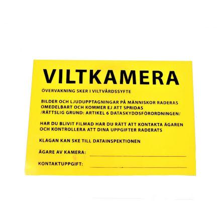 Stabilotherm Skylt Info Viltkamera