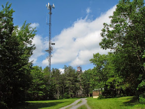Photo: Microwave tower site FN00WA (looking E)