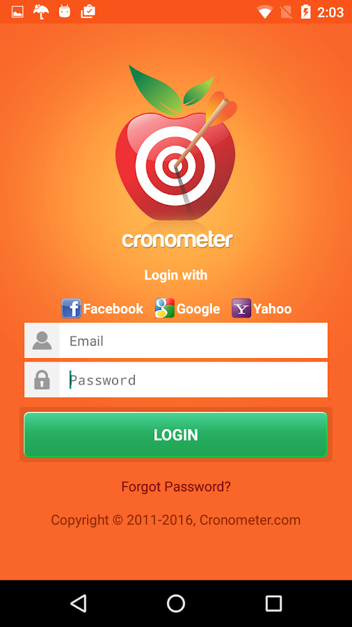 cronometer- screenshot