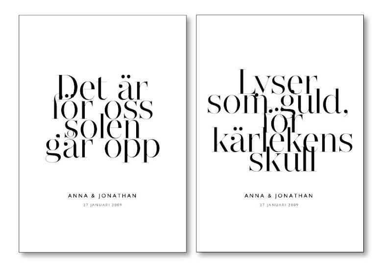 PARPOSTERS - FÖR KÄRLEKENS SKULL 2 ST POSTERS