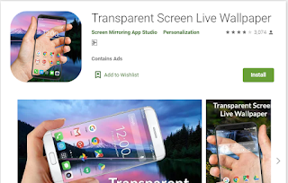 transparent apps for android