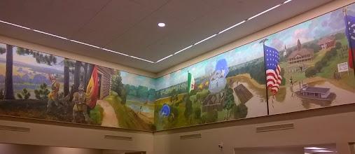 Photo: Mural, First National Bank, Bastrop