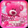 Cute Teddy Bear Zipper Lock APK