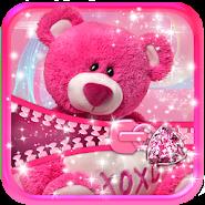 Cute Teddy Bear Zipper Lock APK icon