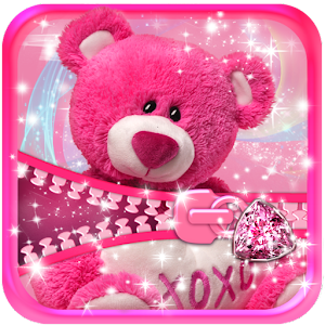 Cute Teddy Bear Zipper Lock APK Download for Android