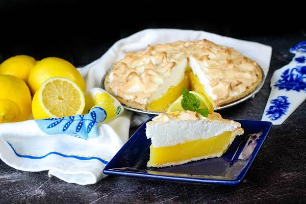 Lemon Meringue Pie With A Twist Was Pinched From <a Href=https://www.justapinch.com/recipes/dessert/pie/lemon-meringue-pie-with-a-twist.html Target=_blank>www.justapinch.com.</a>