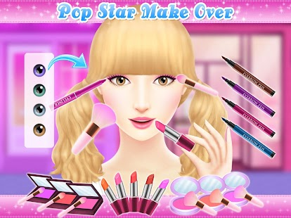 Angelina 39 s pop star salon app report on mobile action for 5 star mobile salon