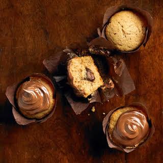 Chocolate-Filled Sweet Potato Cupcakes.