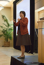 Photo: Jan Masaoka, founder of Blue Avocado, gives a presentation at the 2011 Nonprofit Management Institute.