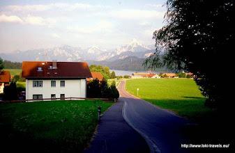 Photo: Weissensee. Uitzicht vanaf de Enzianstrasse.