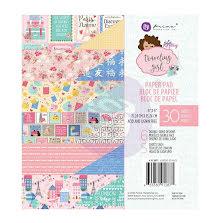 Prima Julie Nutting Paper Pad 6X6 30/Pkg - Traveling Girl UTGÅENDE