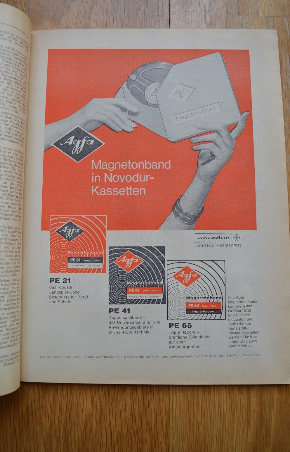 DER SPIEGEL, 29. April 1964 - Werbung für Tonbänder