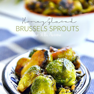 Brussel Sprouts Balsamic Honey Glaze.