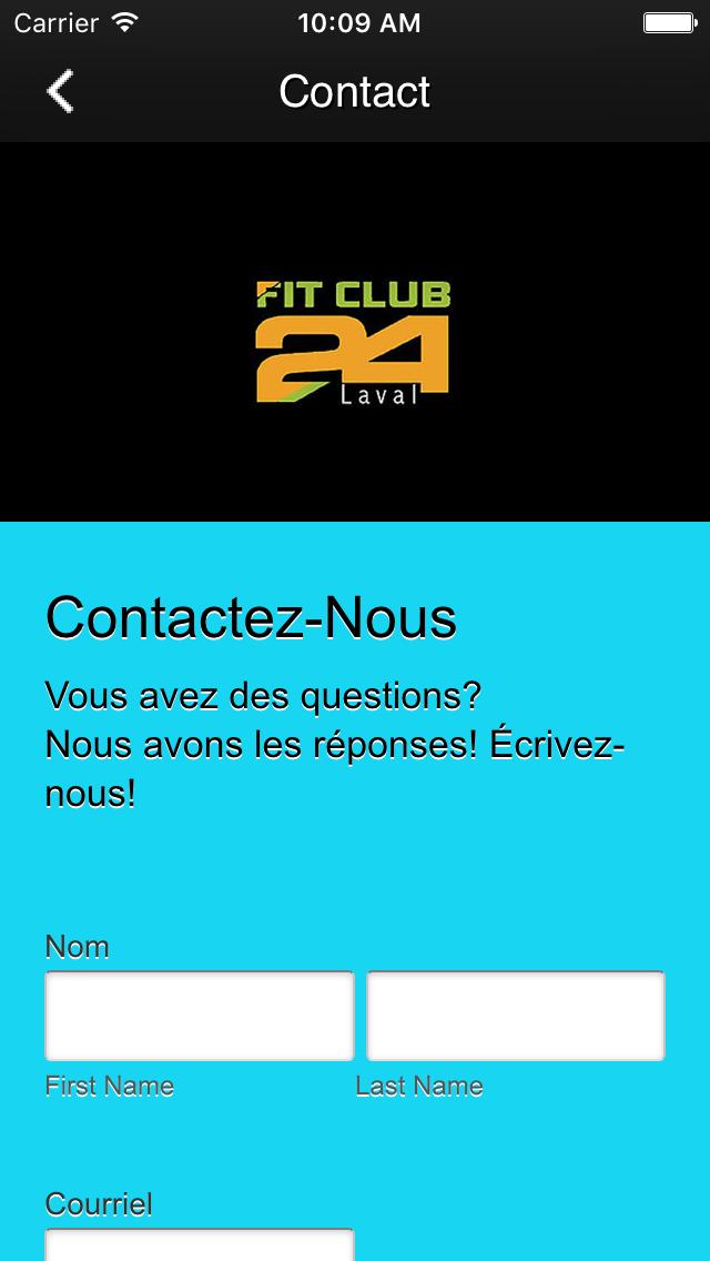 Скриншот FitclubLaval