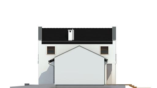 Kasjopea z garażem 1-st. bliźniak A-BL2 - Elewacja prawa