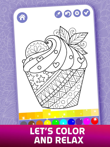 Relaxing Adult Coloring Book apkpoly screenshots 4
