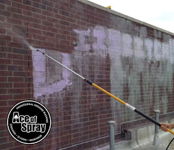 Photo: Did your building receive a Halloween Trick? Let the pros at Ace of Spray #powerwash your walls back to new. #graffitiremoval #chicago #milwaukee #stlouis
