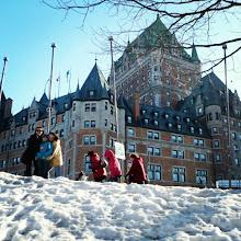 Photo: #Invierno #Quebec #snow #winter #neige #hiver #Canada #family #castillo