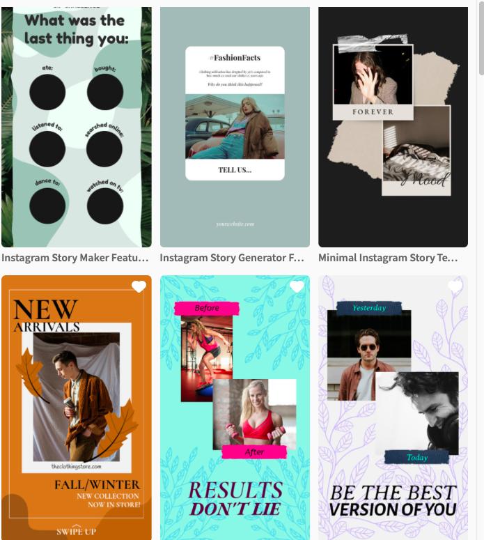 Instagram Stories Design Templates