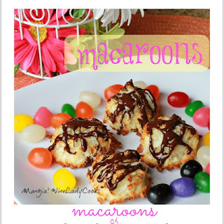 Macaroons With Chocolate Drizzle