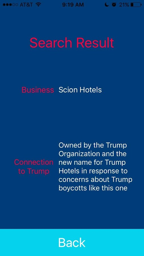 Boycott Trump- screenshot