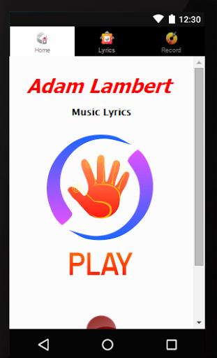 Song Lyrics Adam Lambert
