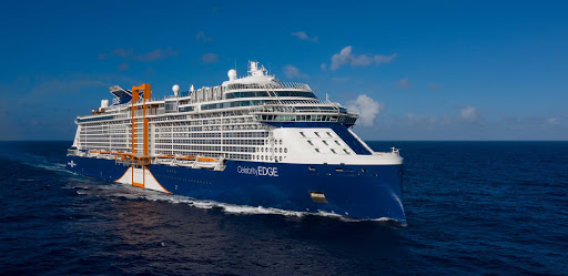 celebrity-edge-aerial.jpg - The 2,918-passenger Celebrity Edge boasts a cutting-edge design with many technological firsts.