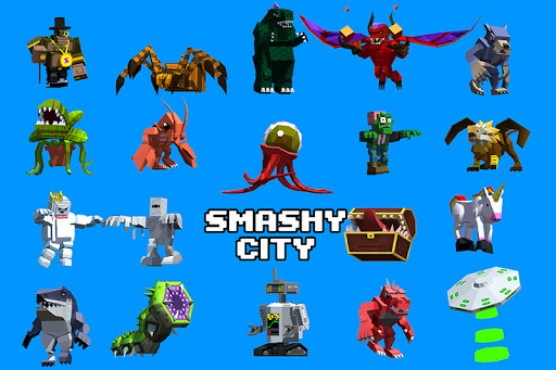 Smashy City - Monster Game apkpoly screenshots 1