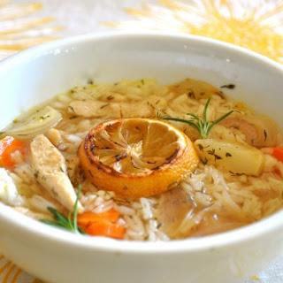 Vegan Lemon Chicken Soup for the Soul.