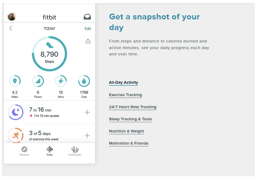 fitbit as example of the definition of ehealth and mhealth