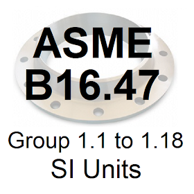 ASME B16.47 Group 1.1 to 1.18 SI Units
