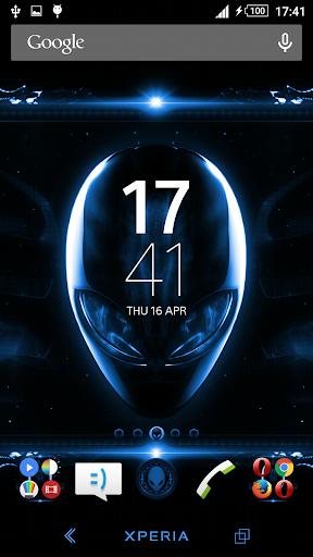 Alien Blue Xperien Theme