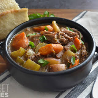 Slow Cooker Rosemary Garlic Beef Stew.