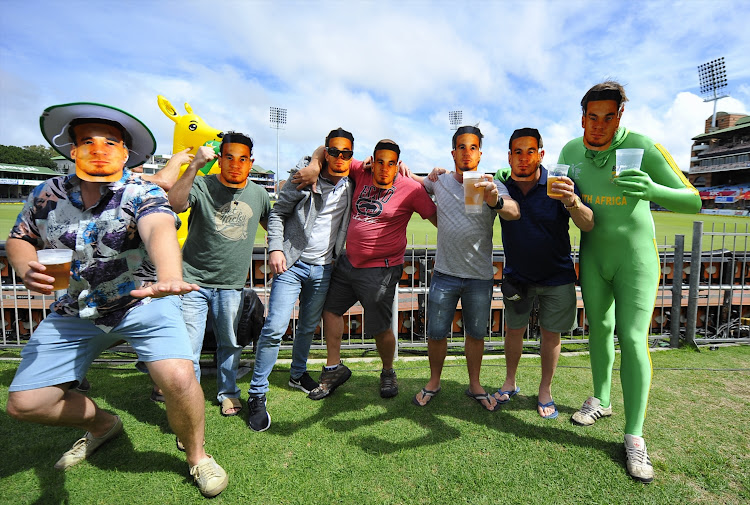 Fans posing as Sonny Bill Williams during day 1 of the 2nd Sunfoil Test match between South Africa and Australia at St GeorgeÕs Park on March 09, 2018 in Port Elizabeth, South Africa.