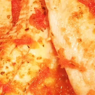Easy Skillet Fish in Tomatoes.