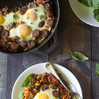 Sausage Pizza Sweet Potato Breakfast Hash {Paleo & Whole30}