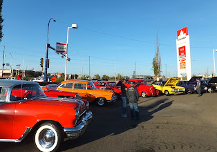 Photo: Thursday night is hot rod night at the Petro Canada station, Fort Road and 137 Ave. in Edmonton